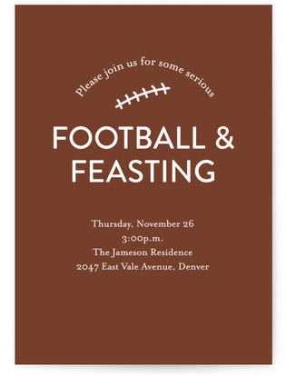 Football & Feasting Thanksgiving Online Invitations