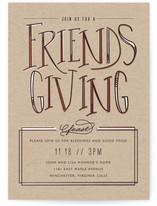 Friendsgiving Feast Thanksgiving Online Invitations
