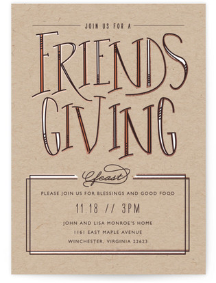 Friendsgiving Feast Thanksgiving Online Invitations