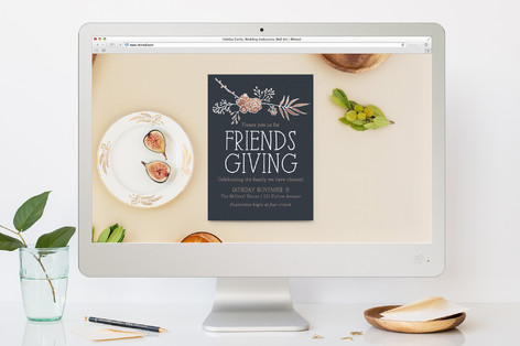 Friendsgiving Floral Thanksgiving Online Invitations