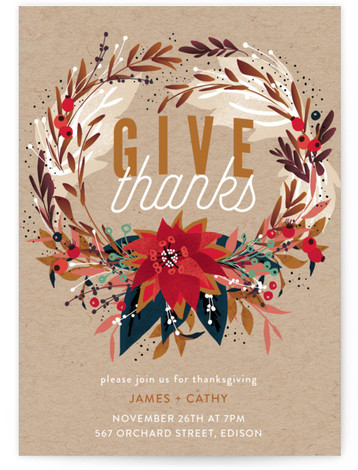 thanksgiving online invitations minted