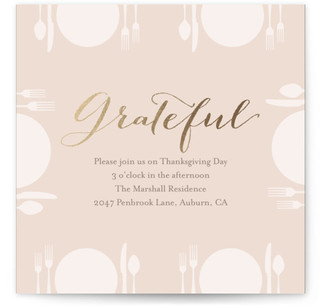 Grateful Thanksgiving Online Invitations