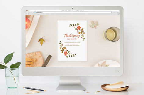 It's a celebration Thanksgiving Online Invitations