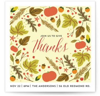 Patterned Thanksgiving Party Thanksgiving Online Invitations