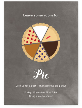Pie Chart Thanksgiving Online Invitations