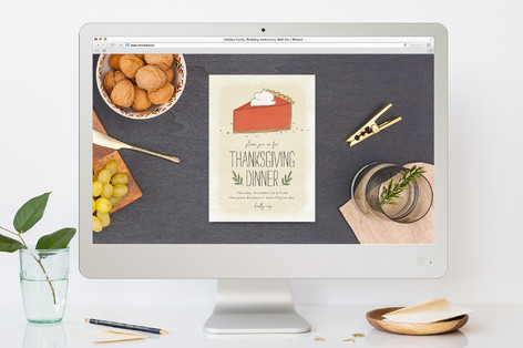 Pumpkin Pie Thanksgiving Online Invitations