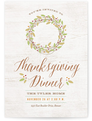 Rustic Thanksgiving Thanksgiving Online Invitations