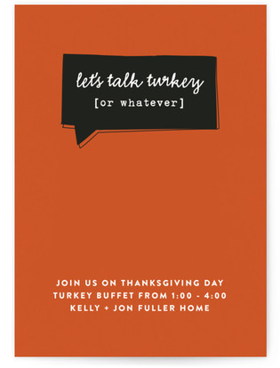 Talk Turkey Thanksgiving Online Invitations