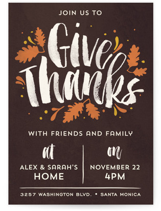 Thanks Brushy Thanksgiving Online Invitations