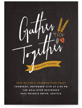 Gather Together Thanksgiving Online Invitations