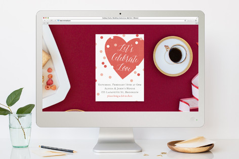 Heart on Sleeve Valentine's Day Online Invitations