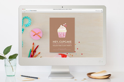 Hey Cupcake Valentine's Day Online Invitations
