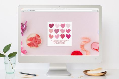 Love Comes In All Shapes And Sizes Valentine's Day Online Invitations
