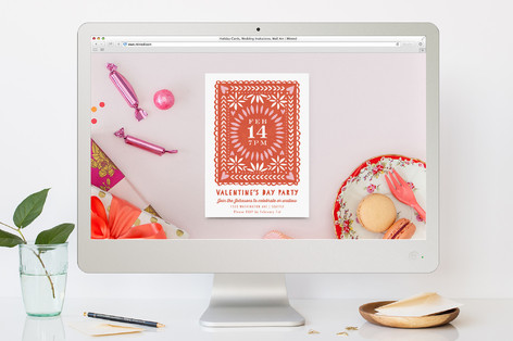 Valentine Cutout Valentine's Day Online Invitations