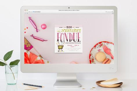 Fondue Rendezvous Valentine's Day Online Invitations