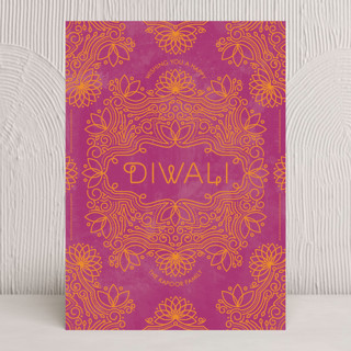 Festive Lotus Diwali Cards