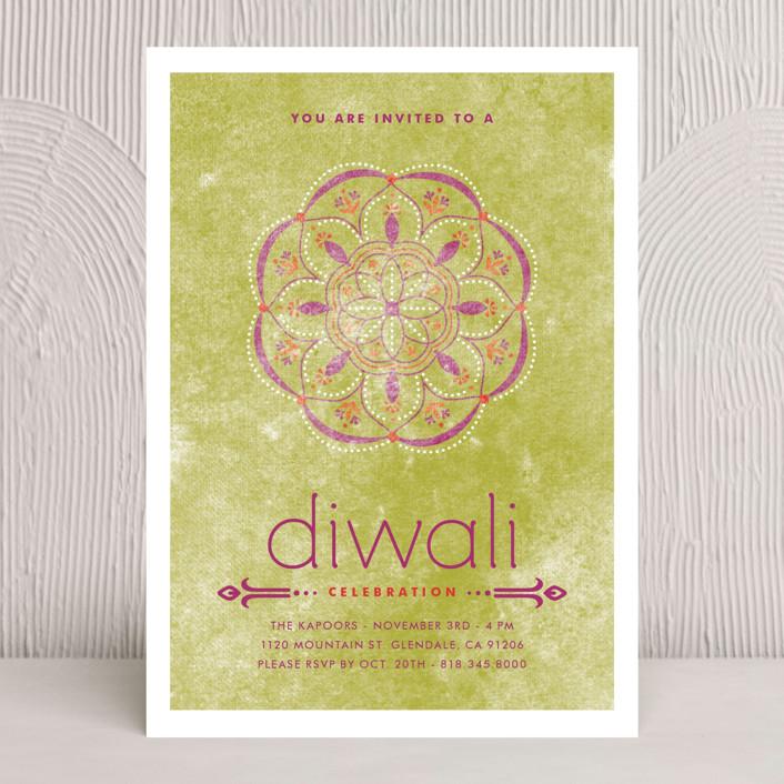 """Celebratory Ringol"" - Diwali Cards in Peridot by Aspacia Kusulas."