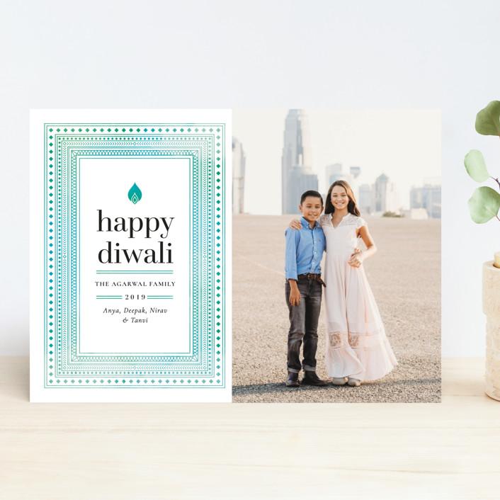 """""""Geo Diwali"""" - Diwali Cards in Ocean by Monika Drachal."""