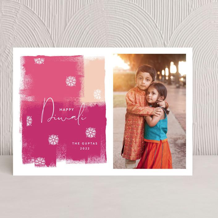 """""""Diwali Splash"""" - Diwali Cards in Fuchsia by Nazia Hyder."""