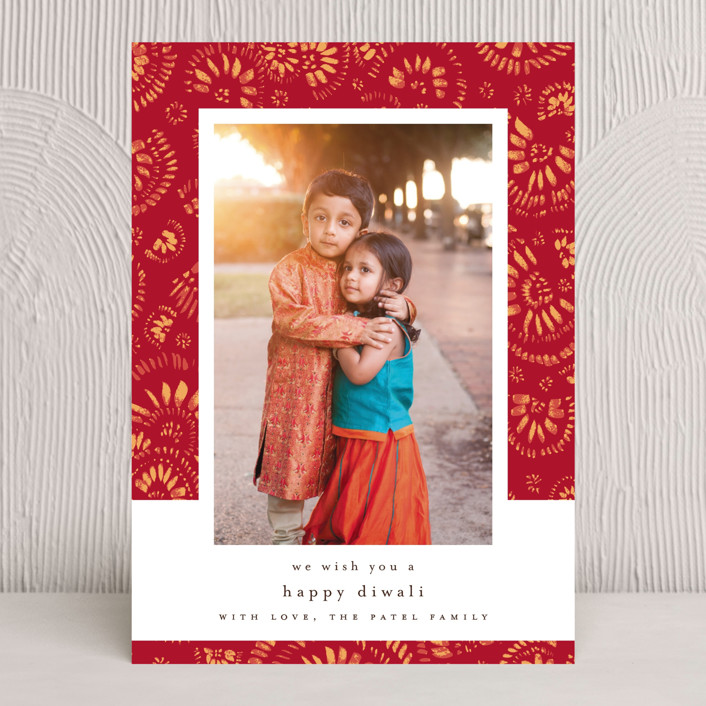 """spreading love"" - Diwali Cards in Crimson by Susanne Kasielke."