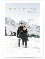 This is a brown diwali card by Nicole Walsh called Modern Elegance printing on recycled smooth signature in standard.