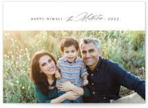 This is a white diwali card by Design Lotus called matchmaker printing on recycled smooth signature in standard.