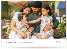 This is a black diwali card by Genna Blackburn called Minute printing on recycled smooth signature in standard.