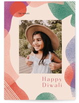 This is a beige diwali card by Meg Gleason called Grow printing on recycled smooth signature in standard.