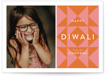 This is a pink diwali card by Anelle Mostert called Kaleidoscope printing on recycled smooth signature in standard.