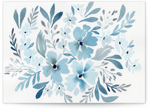 Chinoiserie Floral in Prussian Blue