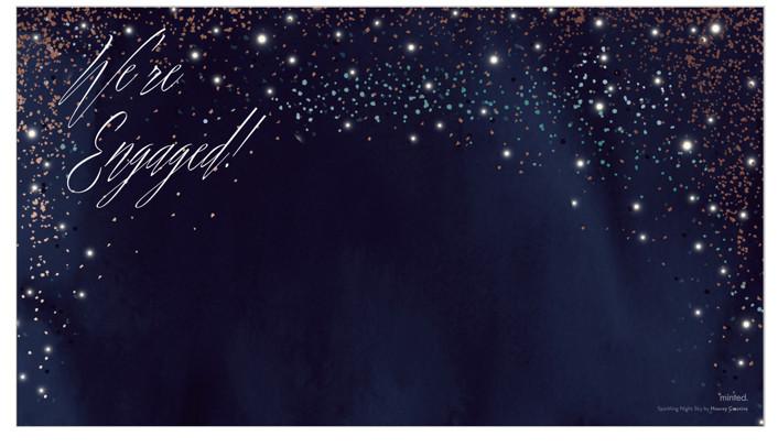 Sparkling Night Sky by Hooray Creative