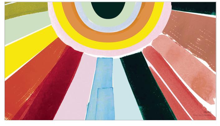 Rainbow Rays by Baumbirdy