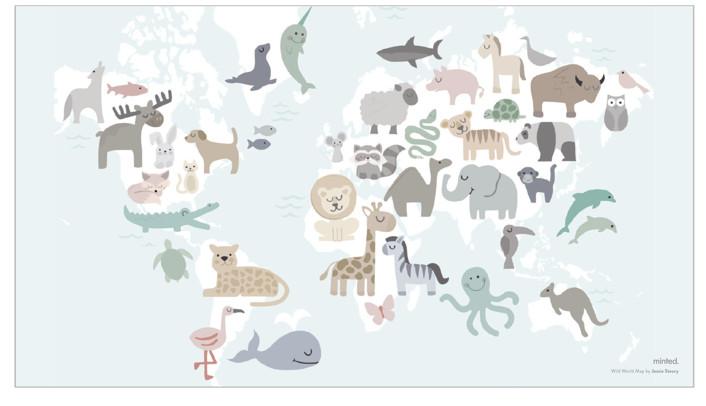 Wild World Map by Jessie Steury