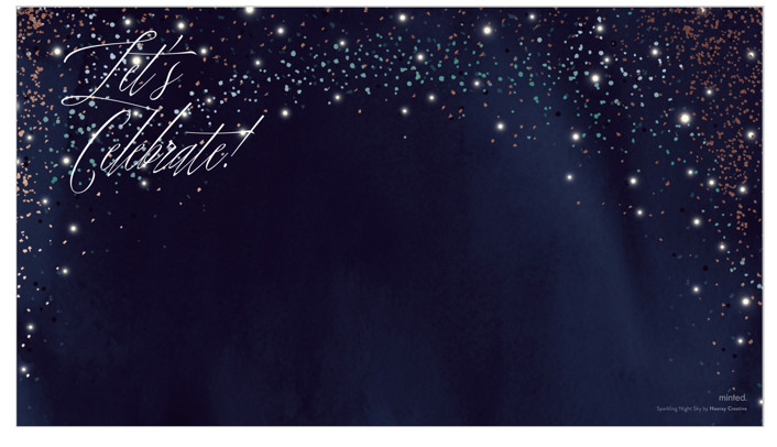 Sparkling Night Sky by Hooray Creative