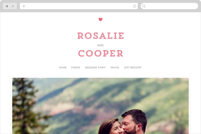 """""""On Location"""" - Whimsical & Funny, Destination Wedding Websites in Salmon by Olivia Raufman."""