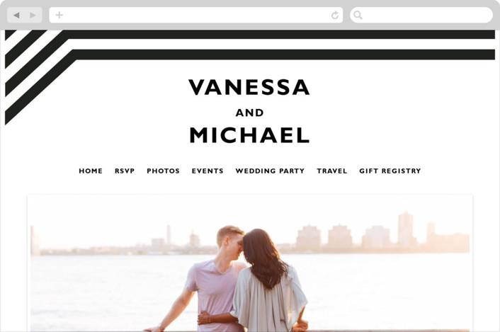 This is a black and white wedding website by Aspacia Kusulas called Desenfadado printing on digital paper.