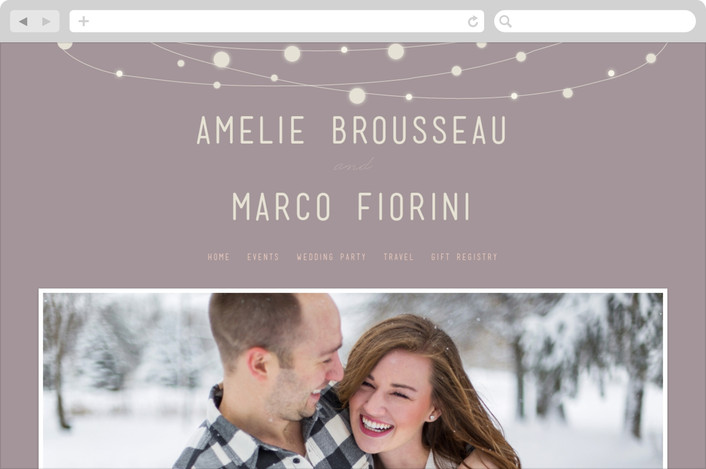 """Paris Lights"" - Wedding Websites in Violet by Lori Wemple."