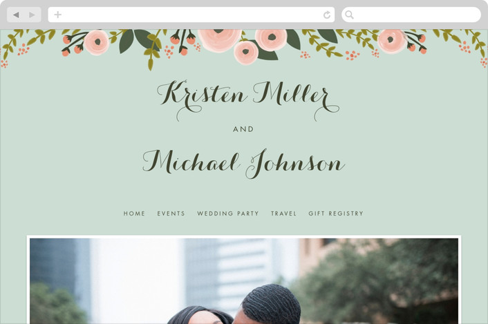 """English Floral Garden"" - Wedding Websites in Peony by Karidy Walker."