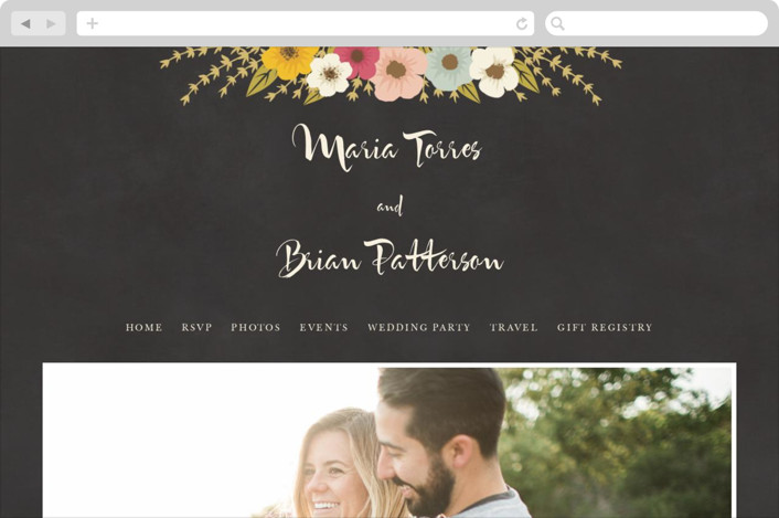 """Plentiful Blossoms"" - Floral & Botanical, Rustic Wedding Websites in Soft Peach by Faiths Designs."