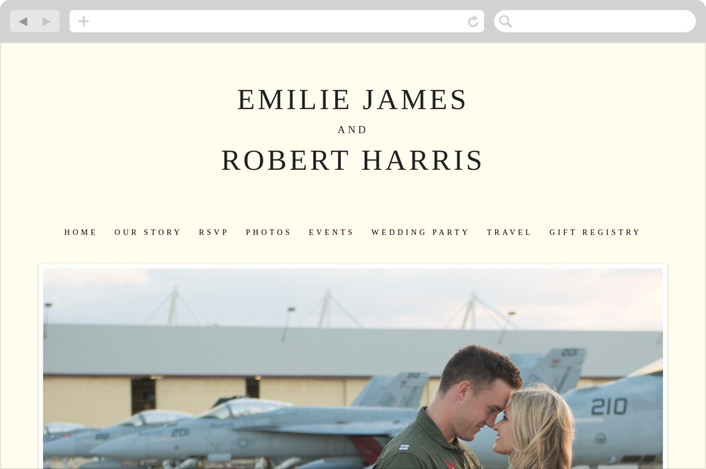 """Moments Captured"" - Simple Wedding Websites in Ivory by Carrie Eckert."