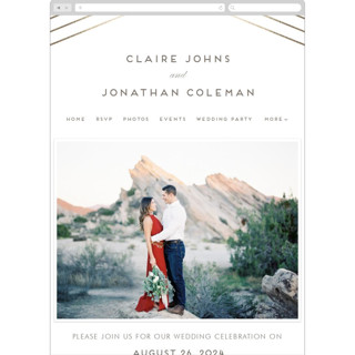 This is a brown wedding website by Lehan Veenker called A Golden Age printing on digital paper.