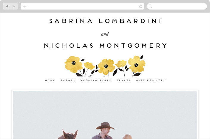 """Dark Romance"" - Floral & Botanical Wedding Websites in Daisy by Petra Kern."