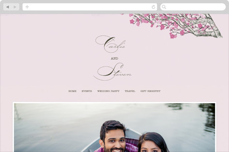 Cherry Blossom Wedding Websites