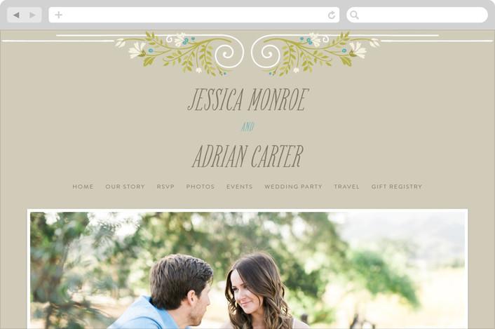 """Delicate Blooms"" - Wedding Websites in Stone by GeekInk Design."