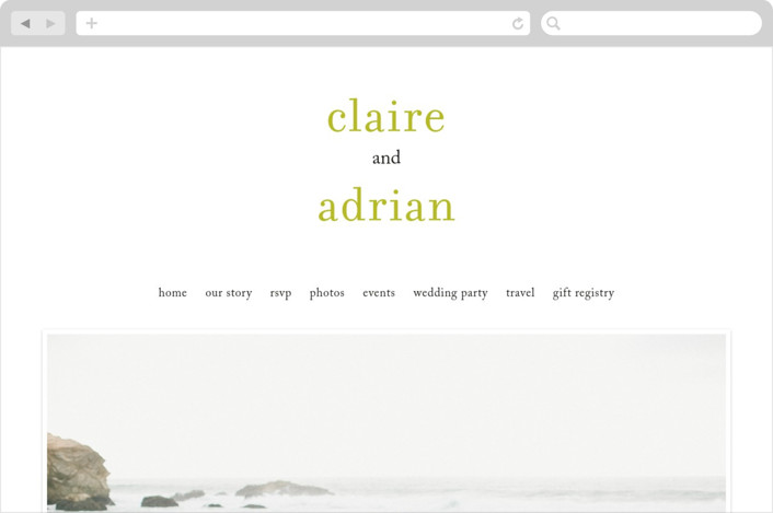"""float + celebrate"" - Simple Wedding Websites in Celery by Float Paperie."
