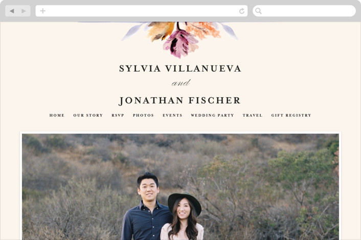 """Grecian Floral"" - Wedding Websites in Tulip by Olivia Kanaley."