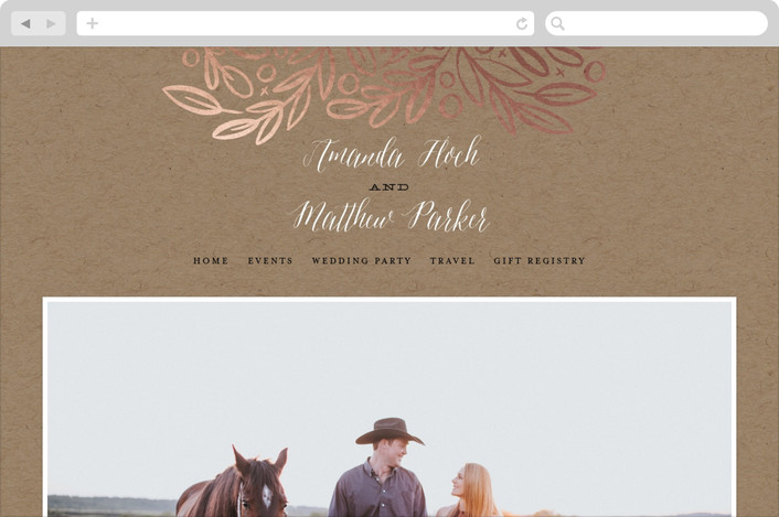 """Hidden Branches"" - Wedding Websites in Kraft by Alethea and Ruth."