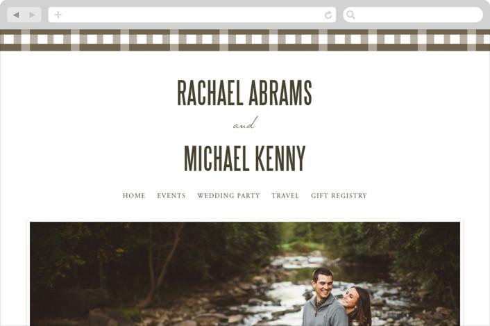 This is a brown wedding website by SimpleTe Design called Lakeside Oars printing on digital paper.