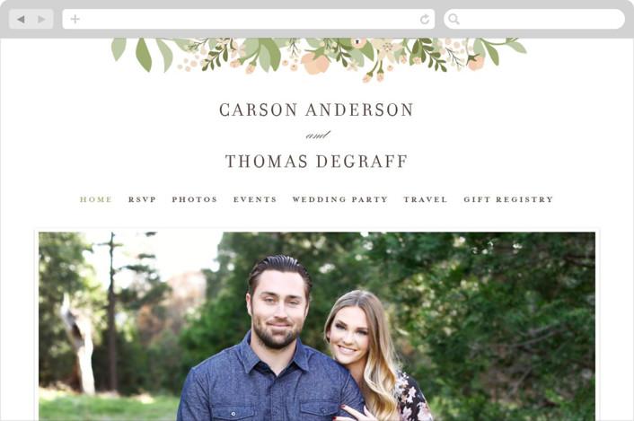 """""""Longwood Estates"""" - Wedding Websites in Peach Sorbet by Jennifer Wick."""