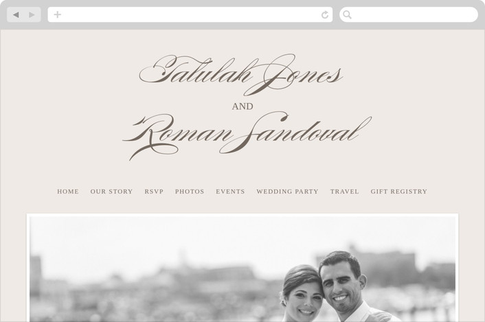 """""""Love Language"""" - Formal, Classical Wedding Websites in Warm Slate by Pistols."""